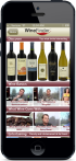 Screenshot of Thumbs Up WineFinder application Browse Screen on iPhone.