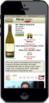 Screenshot of Thumbs Up WineFinder Application Revew Detail Screen on iPhone.