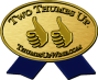 Two Thumbs Up Gold Seal Icon